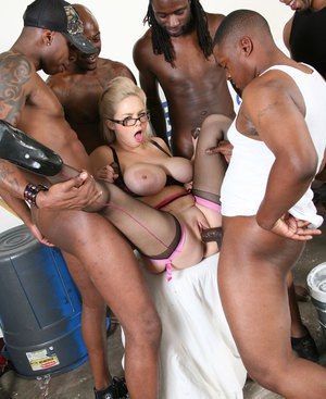 Hot busty gangbang free pictures