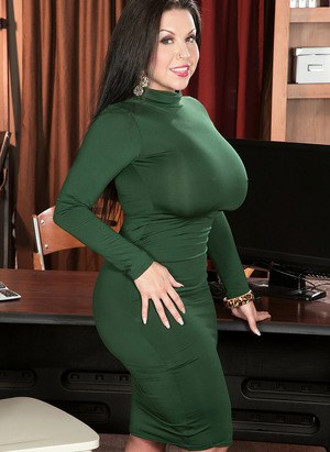Busty MILF Office Porn Pics