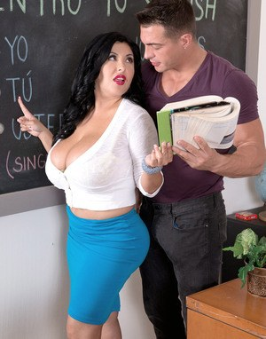 Hot milf babe ariella ferrera with big tits in reality teacher porn